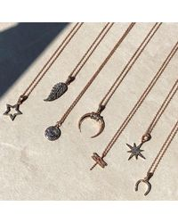 Latelita London - Metallic Diamond Star Burst Necklace Rosegold - Lyst
