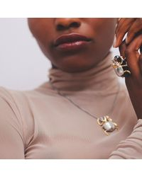 Yasmin Everley Jewellery - Metallic Gilded Scarab Necklace - Lyst