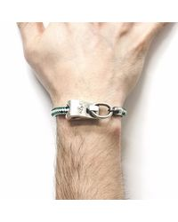 Anchor & Crew - Green Dash Stornoway Rope Bracelet for Men - Lyst