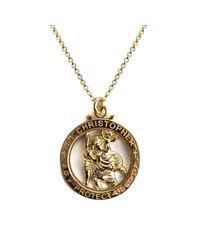 Serge Denimes - Metallic Gold St Christopher Necklace for Men - Lyst