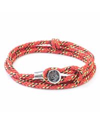 Anchor & Crew - All Red Dundee Rope Bracelet for Men - Lyst
