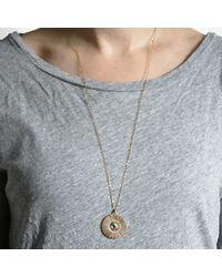 Bark | Metallic Gold Sunburst Necklace | Lyst