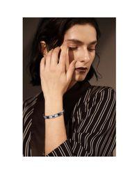 Opes Robur - Metallic Silver Gemstone Bracelet - Lyst