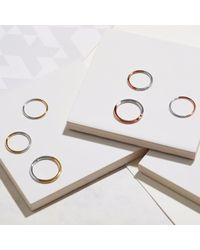 Myia Bonner - Metallic 9ct Rose Gold & Silver Round Stacking Ring - Lyst