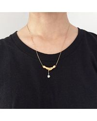 Bark - Metallic Gold Reach For The Stars Necklace - Lyst