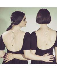 Yasmin Everley Jewellery - Metallic Saxony F Initial Necklace - Lyst