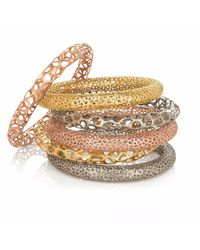 Vitae Ascendere - Metallic Big Lace Gold Bangle - Lyst