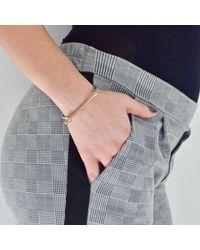 Opes Robur - Metallic Silver & Rose Gold Cuff Bracelet - Lyst
