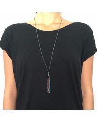 Vicky Davies Jewellery - Black Rainbow Tassel Pendant Oxidised Silver - Lyst