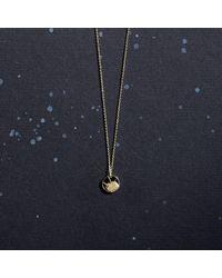 KIND Jewellery - Metallic Gold Mini Soleil Disc Necklace - Lyst