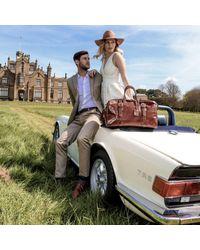 Maxwell Scott Bags - Luxury Italian Leather Medium Travel Bag Flero M Dark Chocolate Brown - Lyst