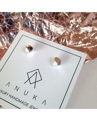 ANUKA Jewellery - Metallic Tiny Gold Mani Stud Earrings - Lyst