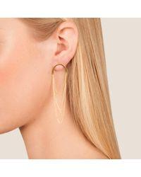 Dutch Basics - Metallic Boog Drop Earrings Arch Gold - Lyst