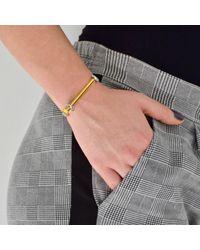 Opes Robur - Metallic Silver & Gold Bolt On Screw Cuff Bracelet - Lyst