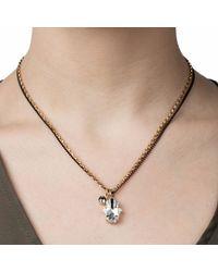 Nadia Minkoff - Metallic Crystal Hamsa Necklace Gold - Lyst