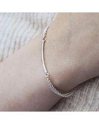 Brash Bijoux - Metallic Double Chain Bracelet - Lyst