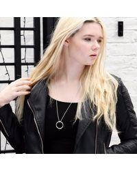 Brash Bijoux - Metallic Circle Necklace - Lyst