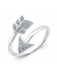 Anne Sisteron - White Gold Diamond Wrap Around Arrow Ring - Lyst