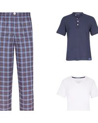 Law of Sleep - Theodore Pyjama Trousers Blue for Men - Lyst
