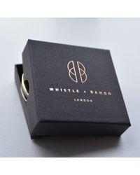 Whistle & Bango - Metallic Black Alphabet Bangle Reg - Lyst