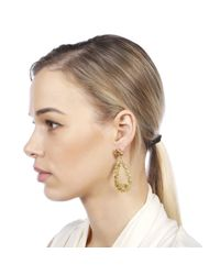 Carousel Jewels - Green Peridot & Crystal Statement Earrings - Lyst