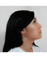MARIE JUNETM Jewelry - Half Ripples Milky White Hoops - Lyst