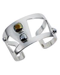 Nadia Minkoff - Metallic Wide Statement Cuff Chrome - Lyst