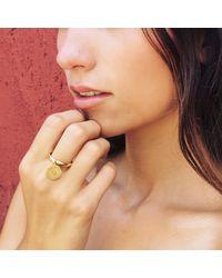 Puck Wanderlust | Metallic Silver Mini Sun Mandala Charm Ring | Lyst