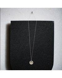 KIND Jewellery - Metallic Silver Temple Disc Necklace - Lyst