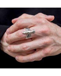Serge Denimes - Metallic Silver Dove Ring for Men - Lyst