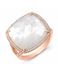 Anne Sisteron - Metallic Rose Gold Mother Of Pearl Diamond Doublet Ring - Lyst