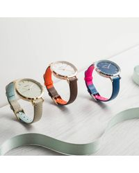 Auree Jewellery - Metallic Montamartre Rose Gold Watch With Almond & Pale Blue Strap - Lyst