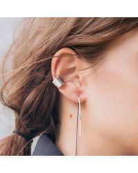 Dutch Basics - Metallic Knot Earring Silver - Lyst
