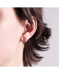 Edge Only | Metallic Pointed Lightning Bolt Earrings Gold | Lyst