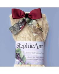 StephieAnn - Multicolor Alpaca Socks With Red Bow - Lyst
