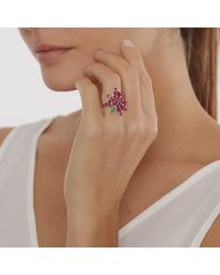 Joana Salazar - Red Ruby Blossom Ring - Lyst