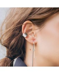 Dutch Basics - Metallic Ear Cuff Thick Silver - Lyst