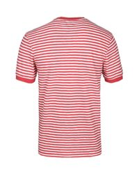 6c07b2785 Lyst - Edwin Red Garment Washed International T-shirt in Red for Men