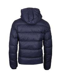 Pyrenex Spoutnic Amiral Blue Hooded Down Jacket for men