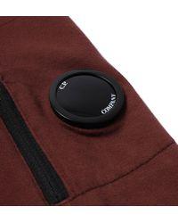 C P Company - Red Felpa Burgundy Polo Neck Half Zip Sweatshirt for Men - Lyst