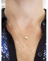 Jennifer Meyer - Multicolor Diamond Mini Elephant Necklace - Lyst