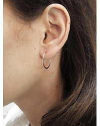 Melissa Joy Manning - Metallic Medium Forged Round Hoop Earrings - Lyst