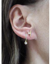 Tate - Multicolor Pavé Circle Diamond Drop Hoop Earrings - Lyst