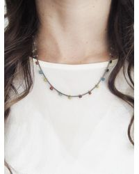 Ten Thousand Things - Metallic Fine Silver Studded Ancient Bead Pale Chain Necklace - Lyst