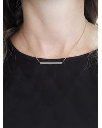 Sethi Couture - Metallic White Baguette Diamond Bar Necklace - Lyst