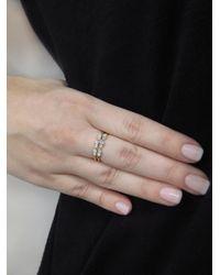 Wwake - Metallic Opal And Diamond Demi-paired Ring - Lyst