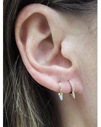 Maria Tash - Multicolor White Opal Spike Single Earring - Lyst