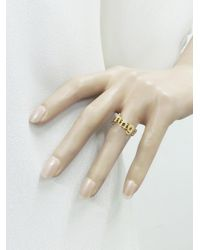 Jennifer Meyer - Metallic Lowercase Diamond Initial Ring - Lyst