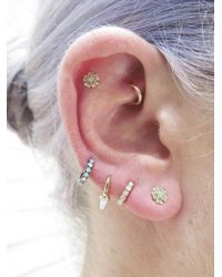 Maria Tash - Multicolor Rotating Opal Spike Hoop Single Earring - Lyst