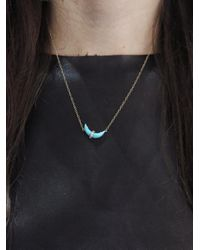 Andrea Fohrman - Blue Sleeping Beauty Turquoise Crescent Moon Necklace - Lyst